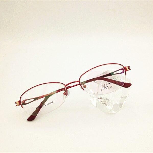 Bekleidung Zubehör Sporting Eyesilove Marke Frauen Myopie Gläser Kunden Myopie Brillen Halbrand Kurzsichtig Brillen-0,50 Bis-6,00 Angenehm Bis Zum Gaumen