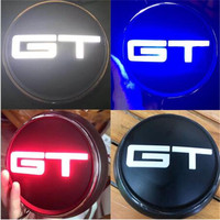 1pc New Car Styling 3 Colour LED Light Red Blue Black Mustang GT Body Rear Trunk Badge Emblem Sticker