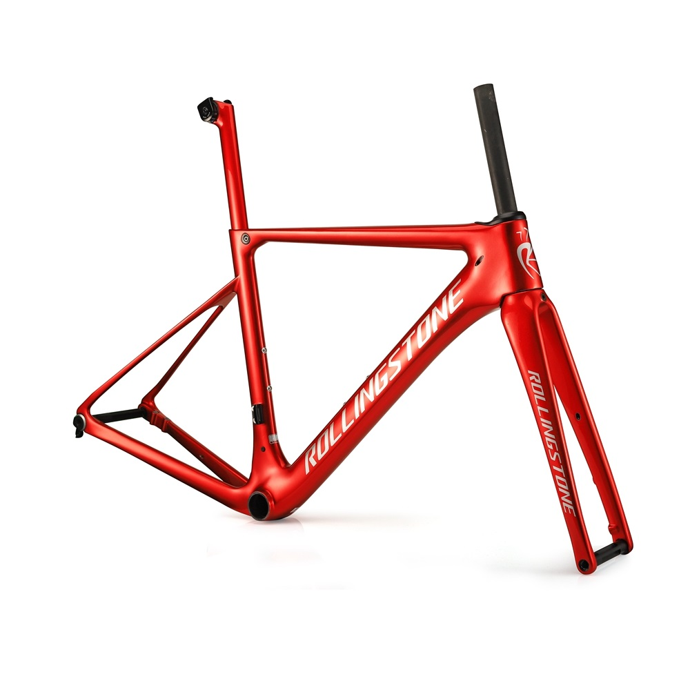 Rolling Stone Carbon PROBING Disc Brake Road Frame Set With Seat Post 46.5cm 49cm 52cm 55cm RED