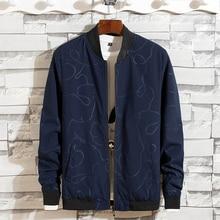 Chaquetas Vintage para hombre, abrigo, chaquetas de moda con estampado, negro, verde, azul, cómodas chaquetas transpirables para hombres, abrigo