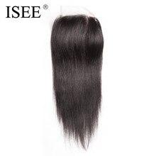 ISee прямые волосы Накладные волосы Кружево основе бесплатная часть руки связали человеческих Наращивание волос Бесплатная доставка может быть окрашена