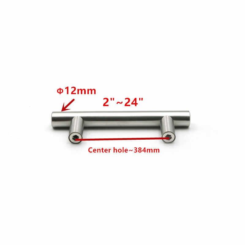 50mm-500mm paslanmaz çelik mutfak dolabı T Bar kolu çekin topuzu kabine kolları mobilya kolu dolap çekmece kolu