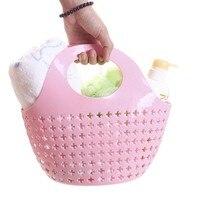 Полые поперечные Пластиковые Портативные Ручные корзины, корзина для покупок, кухонная корзина для фруктов и овощей, органайзеры для Хранения Туалетных Принадлежностей
