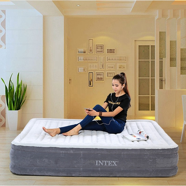"Intex Comfort Plush Full Size Inflatable Beds For Adult,Dura-Beam Airbed ,13"" height"