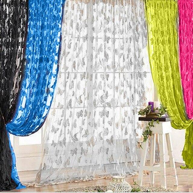 200x100 cm Tende Della Finestra Farfalla Nappa String Porte Tende per Soggiorno
