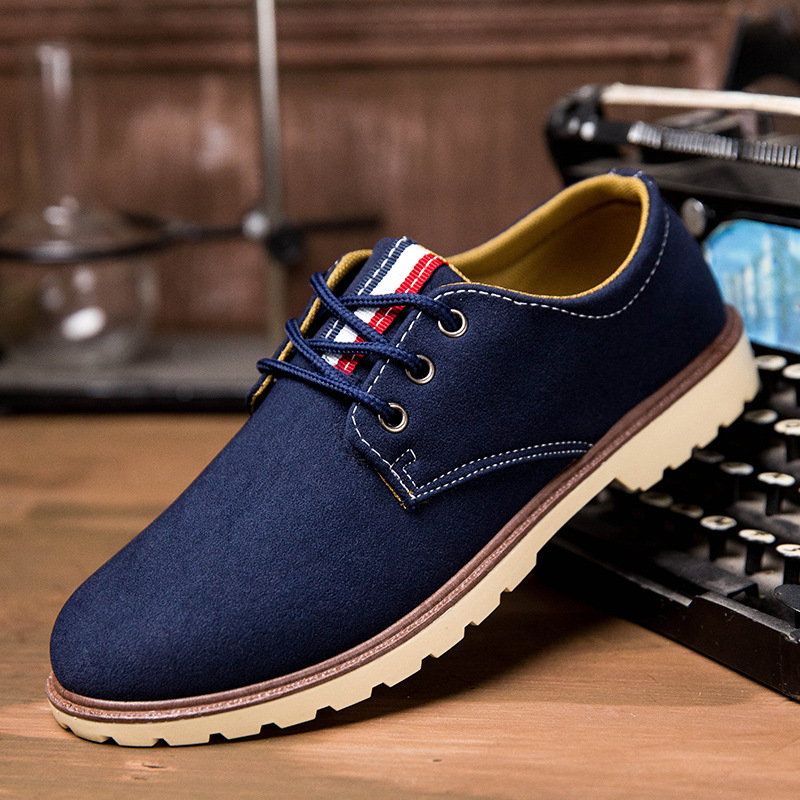 Spring summer new men casual shoes nubuck  lace-up flat men shoes fashion solid male footwear daily casual walking shoes ET44 vikeduo brand 2017 fashion top real leather hollow breathable men shoes leisure casual lace shoes summer spring white footwear