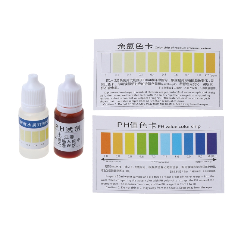 Free Postage Practical PH A2O Water PH OTO Dual Test Kit With Test Card For 100-125 Tests JU05 Drop Shipping