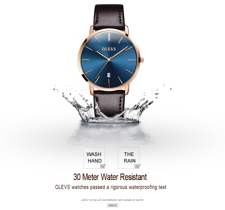 Men luxury brand quartz watches leather strap minimalist ultra-thin waterproof watch fashion wrist watch with high quality 11