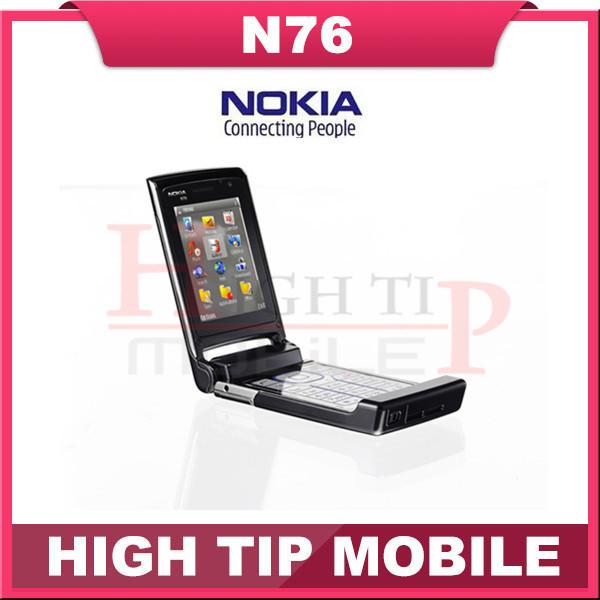 Nokia n76 original bluetooth java 2mp abrió el teléfono móvil soporte de teclado ruso reformado envío libre