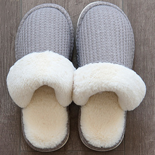 Winter Slippers women Big size 42-43 Non slip Short Plush Indoor shoes for Girls Cozy Flat with House slipper Claquette fourrure cape massage главдор ag16029 with деревяннными inserts with brown mesh pattern 55180