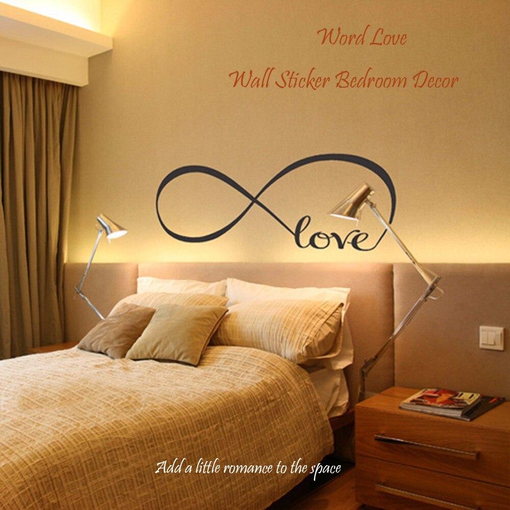 Love Wall Sticker DIY Waterproof Romantic Word Removable Art Vinyl ...