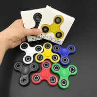 30pcs/lot DHL Free Fidget spinner Rotation Time Long Anti Stress Toys 7 kinds of color Tri-Spinner Fidget Toys Hand Spinner