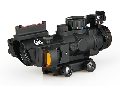 Military Tactical 4x32 Rifle Scope with Mini Red Dot and Red Laser Sight PP1-0291 стоимость