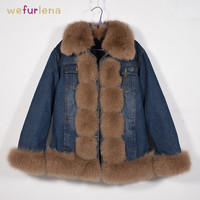 2018 Real Special Offer Full Free Shipping Natural Fur Jacket Winter Warm Thick Genuine Fox Coat Women Waistcoat Parkas Coats