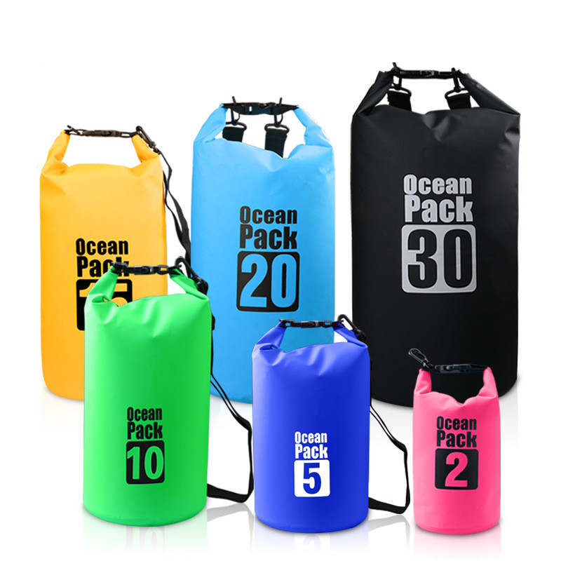 4Colors 2L 10L 20L Outdoor PVC Waterproof Dry Sack Storage Bag Rafting Sports Kayaking Canoeing Swimming Bag Travel Kits 20l 30l river trekking bags waterproof surfing swimming storage dry sack bag pvc pouch boating kayaking canoeing floating