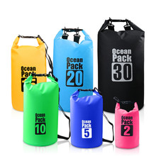 4Colors 2L 10L 20L Outdoor PVC Waterproof Dry Sack Storage Bag Rafting Sports Kayaking Canoeing Swimming Bag Travel Kits