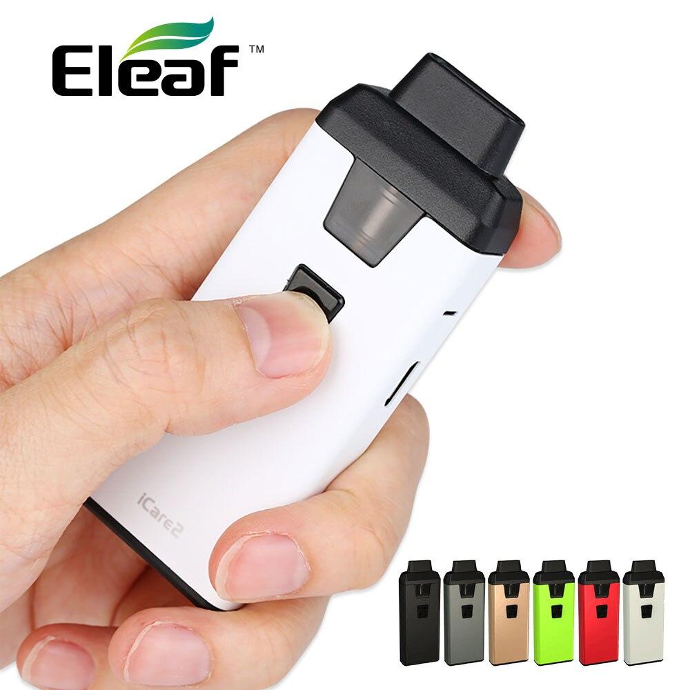 Kit de démarrage Eleaf ICare 2 Original avec batterie 650mAh intégrée et réservoir 2ml amovible sortie Max 15W Kit de Vape Eleaf ICare 2