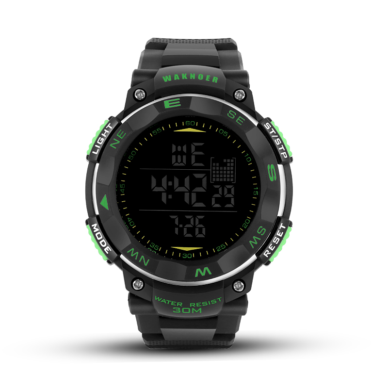 WAKNOER Sport Watches 30M Waterproof LED Digital Watch Men Watch Fashion Military Mens Watch relogio masculino relojes hombre