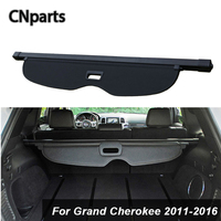 CNparts Car Rear Trunk Cargo Cover For Jeep Grand Cherokee 2011 2016 Car Styling Black Security Shield Shade Auto accessories