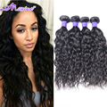 "7A Brazilian Virgin Hair Water Wave 3/4 Pcs/Lot Brazilian Curly Virgin Hair Human Hair Weave 8""-30"" Brazilian Hair Weave Bundles"