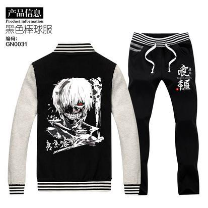 2015 new tokyo ghoul Outwear 2 in 1 set Kaneki Ken Jacket Coat XXXL Plus size Hoodies Costume Cosplay hoodies+pants