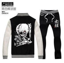 2015 новый токио вурдалака Пиджаки 2 в 1 компл. Kaneki Кен Пальто Куртки XXXL Плюс размер Толстовки Косплей Костюм толстовки + брюки