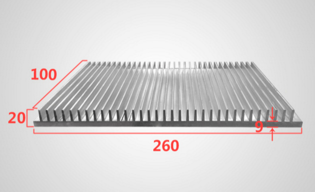 Fast Free Ship 260*20*100mm Heatsink Can be customized high-power electronic radiator aluminum radiator fast free ship 90 250 49mm module radiator high power led street lamp radiator aluminum electronic radiator