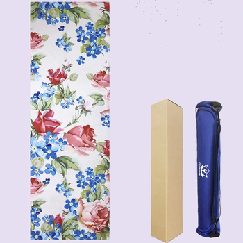 183cm*61cm*5mm New Style Natural Rubber Absorb Sweat Comfortable Suede Fabric Non-Slip Lose Exercise Yoga Mat