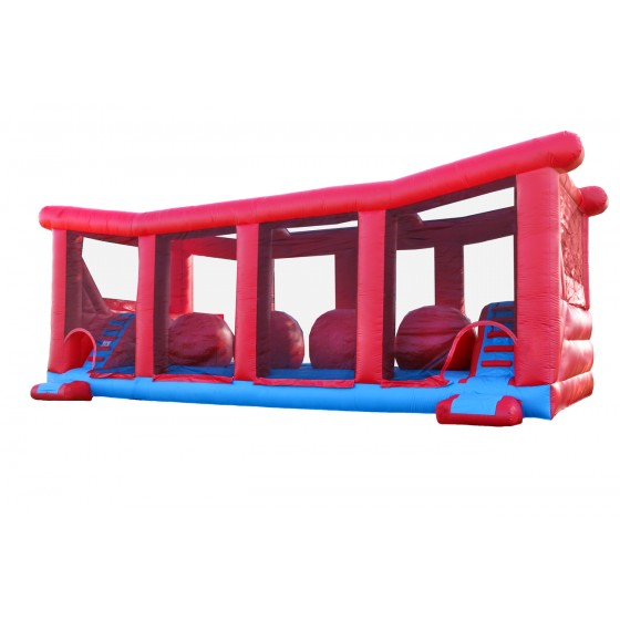 Wholesale kids outdoor Inflatable obstacle slide China amusement park equipment