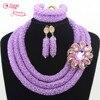 Stylish Nigeria Wedding Nigerian Wedding African Beads Jewelry Set Handmade Indian Bridal Necklace Sets Bracelet Earrings