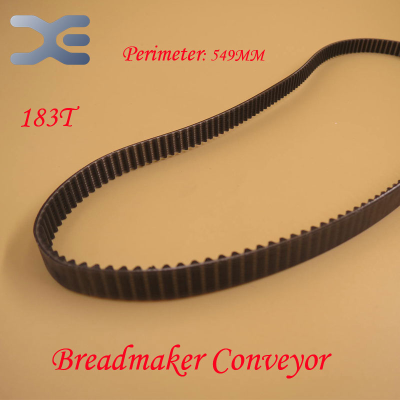 183T Perimeter 549mm Belt Breadmaker Conveyor Belts Bread Maker Machine Parts Bakery Strap Kitchen Appliance Accessories