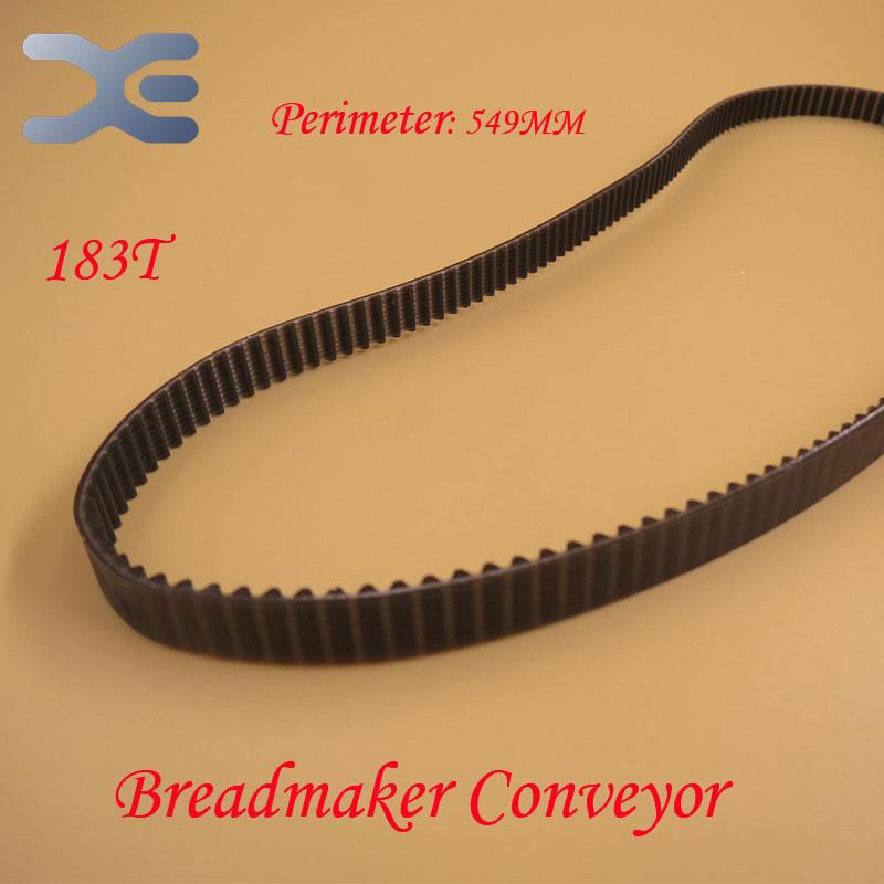 183T Perimeter 549mm Kitchen Appliance Parts Bread Maker Parts Breadmaker Conveyor Belts