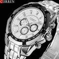2016 New CURREN Watches Men Top Luxury Brand Hot Design Military Sports Wrist watches Men Digital Quartz Men Full Steel Watch