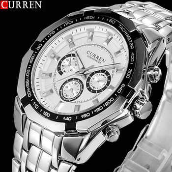 2018 New CURREN Watches Men Top Luxury Brand Hot Design Military Sports Wrist watches Men Digital Quartz Men Full Steel Watch - DISCOUNT ITEM  44% OFF All Category