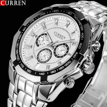 2018 novo curren relógios masculinos topo de luxo da marca quente design militar esportes relógios de pulso masculino digital quartzo relógio de aço completowatch dvrwatch timexwatch batman