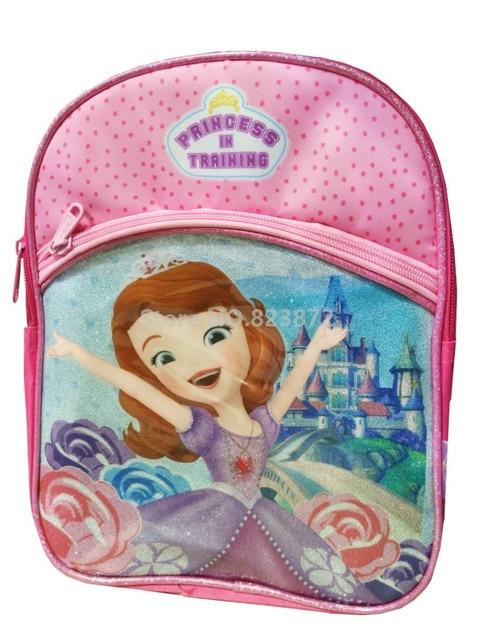 Cute Princess Sofia The First Pink Small Kindergarten Preschool Backpack  Baby Kids Schoolbag Children School Bags 19bf990c80e37