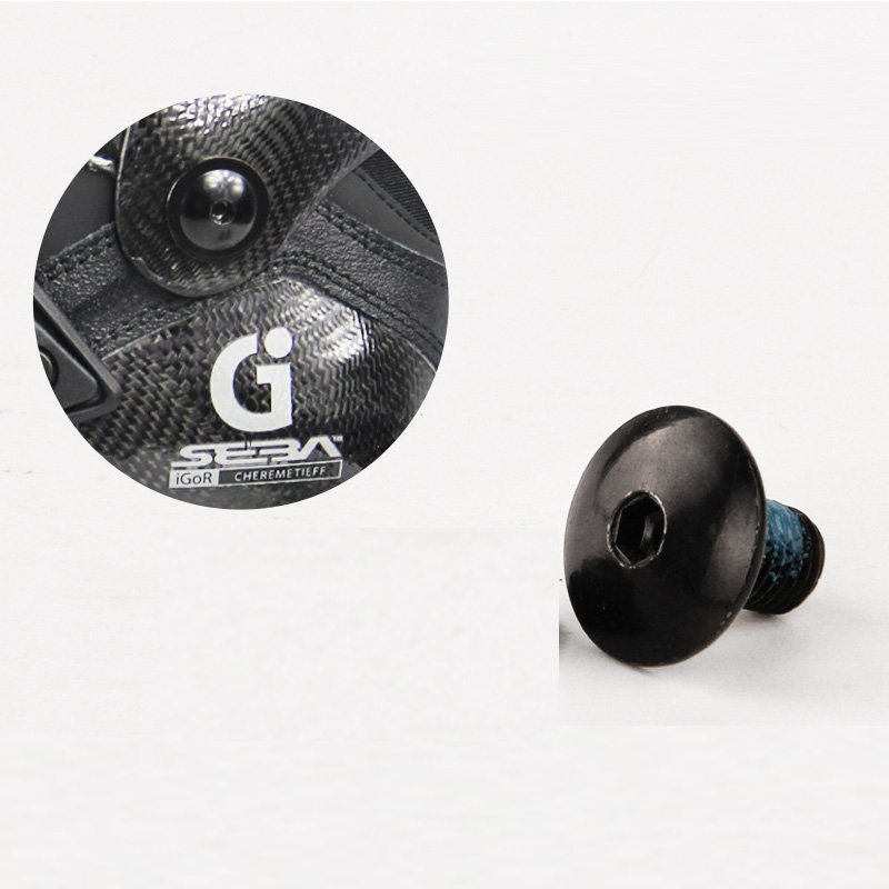 2 Pieces Original SEBA Igor Cuff Button Inline Skating Shoes Cuff Screw For SEBA Igor Or T Inline Skates Patines Nail