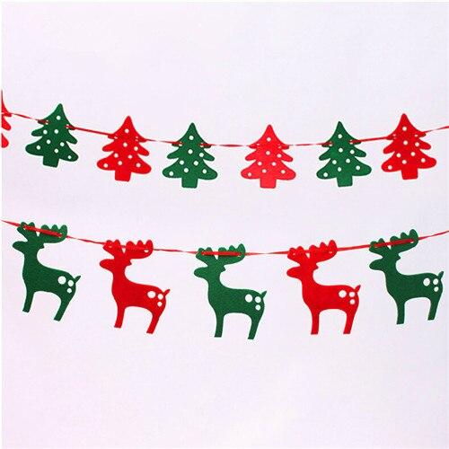Christmas Reindeer Christmas Tree 1.9 Meters Felt Cloth Elk Pull Flag  Bunting Decoration Christmas Gifts and Decorations Banners - Christmas Reindeer Christmas Tree 1.9 Meters Felt Cloth Elk Pull