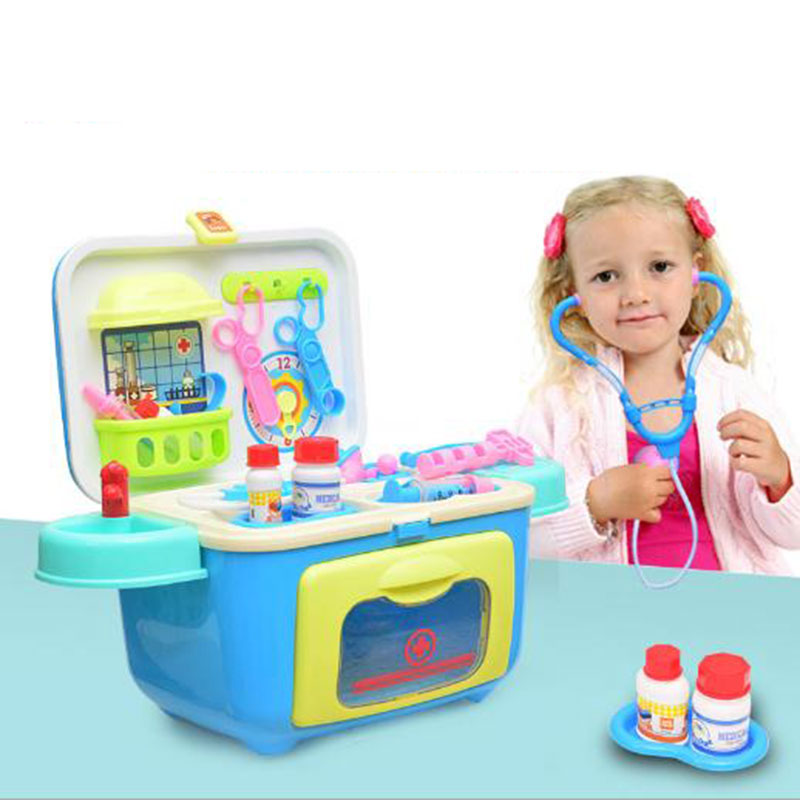 Child Medical Kit Doctor Toys for Girls Kids Role Play Pretend Play Doctor Classic Toys Simulation Hospital kids baby doctor medical play set carry case education role play toy kitm43o