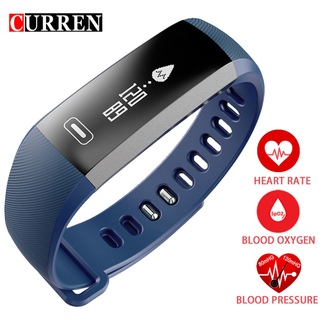 CURREN R5 PRO Smart wrist Band Heart rate Blood Pressure Oxygen Oximeter Sport Bracelet Watch intelligent For iOS Android image