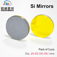 Si Mirror Dia 19.05 20 25 30 38.1 mm Gold Plated Silicon 3pcs Reflective Lens Reflector for CO2 Laser Engraving Cutting Machine
