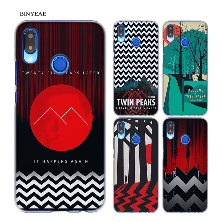 BINYEAE Welcome Twin Peaks Transparent Hard Case Cover Coque Shell for Huawei P20 Lite 10 Lite P Smart