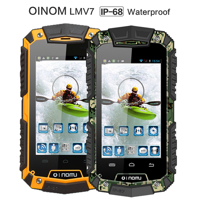 Original New V7 OINOM LMV7 IP67 rugged Waterproof phone MTK6572 Dual Core Android Gorilla glass 3G