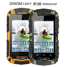 Оригинальный новый v7 oinom lmv7 ip67 прочный водонепроницаемый телефон mtk6572 dual core android gorilla glass 3 г gps 3600 мАч 5mp ударопрочный