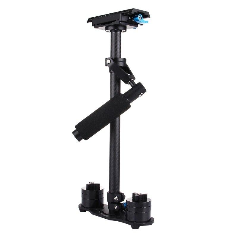 MCOPLUS 40 cm stabilisateur de poche Portable en Fiber de carbone stabilisateur vidéo stabilisateur pour appareil photo Canon Nikon/SONY DSLR