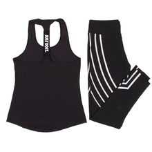 Женский комплект для йоги, спортивный топ, жилет + Светоотражающие леггинсы, одежда для фитнеса, колготки для бега, Леггинсы для йоги и тренировок, спортивный костюм