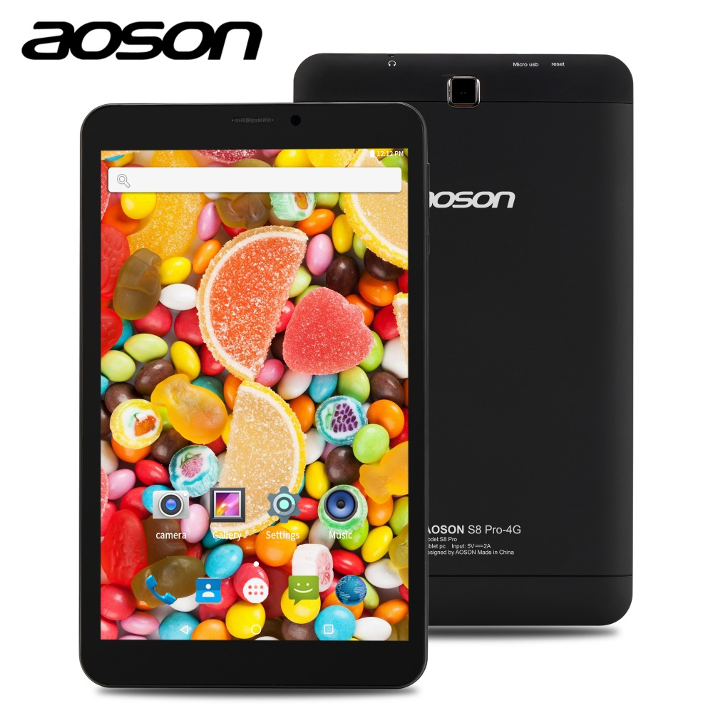 Aoson S8 PRO 8 inch4G Phablet 1GB+16GB Android 6.0 4G Phone Call Tablets PC Dual Camera Bluetooth wifi Black 7.8.10 tablets
