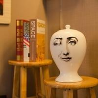 ceramics Pin sealed Jar DIY insert Vase Craft Accessory Living room Home Desk Dried flower Decoration