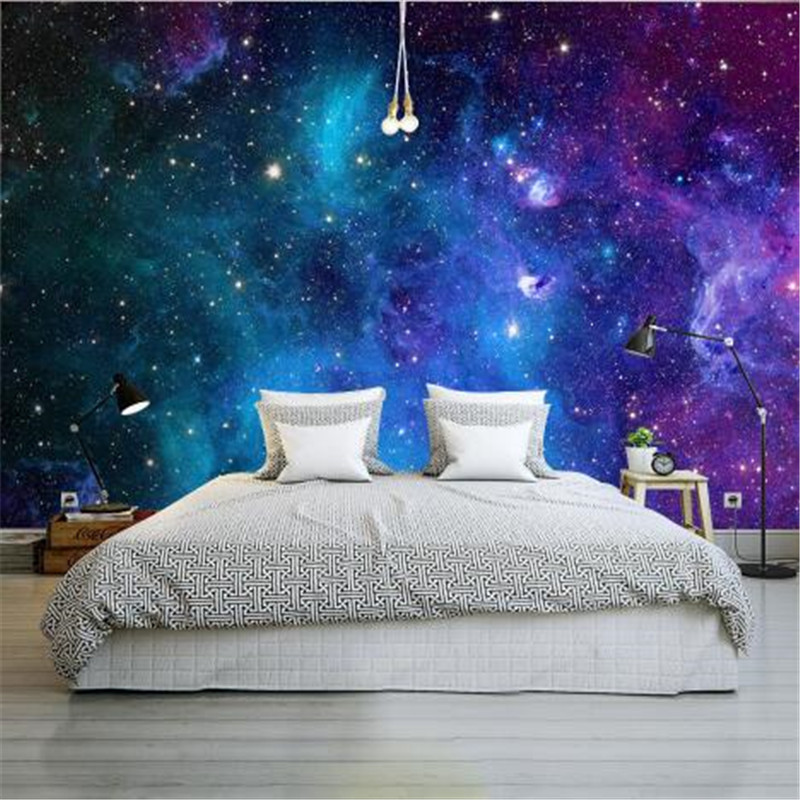 Custom Large Wallpapers for Walls 3D Living Room Wall Papers Modern Star Universe Photo Wall Papers Home Decor for Children Room modern embossed 3d wallpapers rolls luxury striped wallpapers non woven desktop wall papers home decor bedroom walls coverings