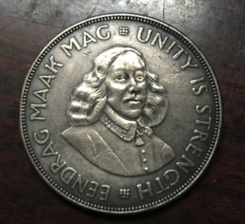 1962 South Africa 50 Cents Bust of Jan Van Riebeeck Silver plated Coin